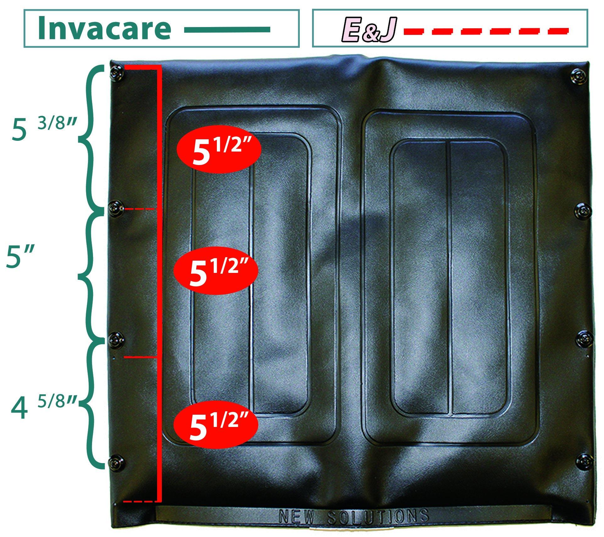 UBV471-20'' Wide x 18'' High Back, Black Vinyl Wheelchair Upholstery, Universal Fit