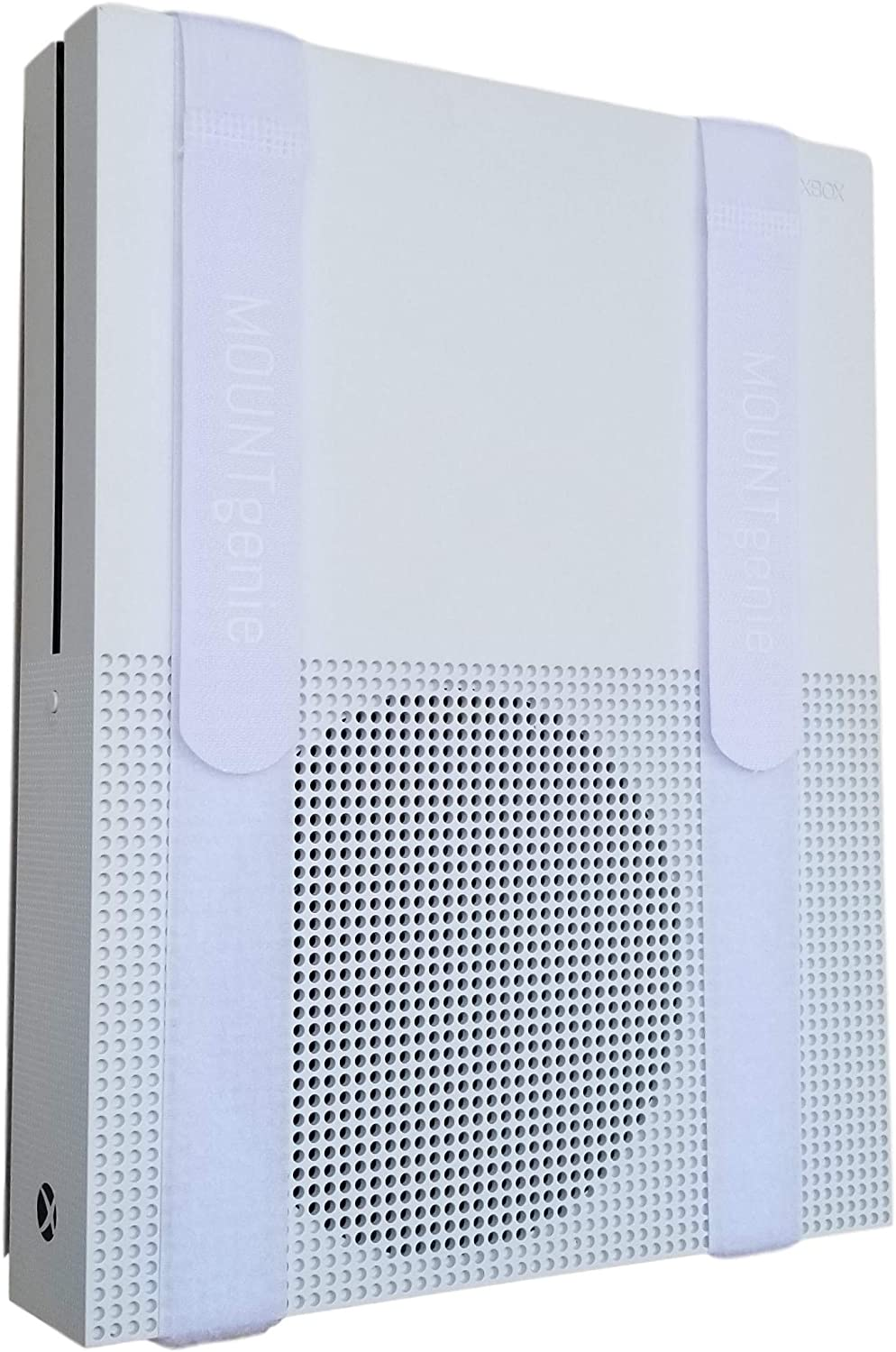 The All-in Wonder Mount by Mount Genie (1-Pack): The Easiest Wall Mount for All Components Routers Modems Xbox Playstation DVRs | One Size Fits All | Designed for Home and Business (White)