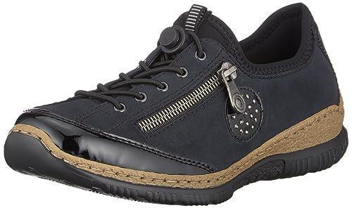 Vielzahl von Designs und Farben großes Sortiment tolle Preise Rieker Damen N3268 Slip On Sneaker