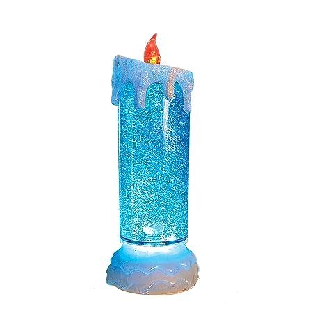 The Benross Christmas Workshop Deko Kerze mit LED Licht Design mit Wasser im Inneren 24/cm