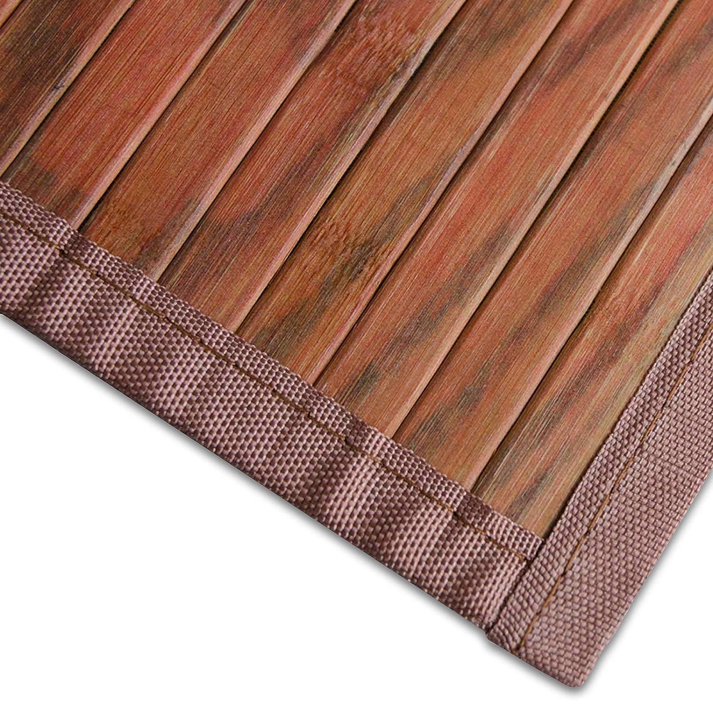 Bambusteppich Magenta (Braun)   für Bad und Wohnzimmer   natürlich wohnen mit 100% echtem Bambus   Bambusmatte in vielen Größen (200x300 cm)