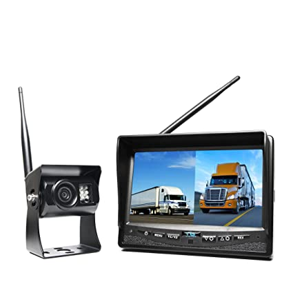 Backup Camera System >> Rear View Safety Rvs 2cam Wireless Backup Camera System With Dual Screen Monitor And Cigarette Lighter Adaptor