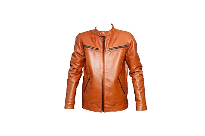 Isra Genuine Leather Men S Jacket Mango Tan Amazon In Clothing