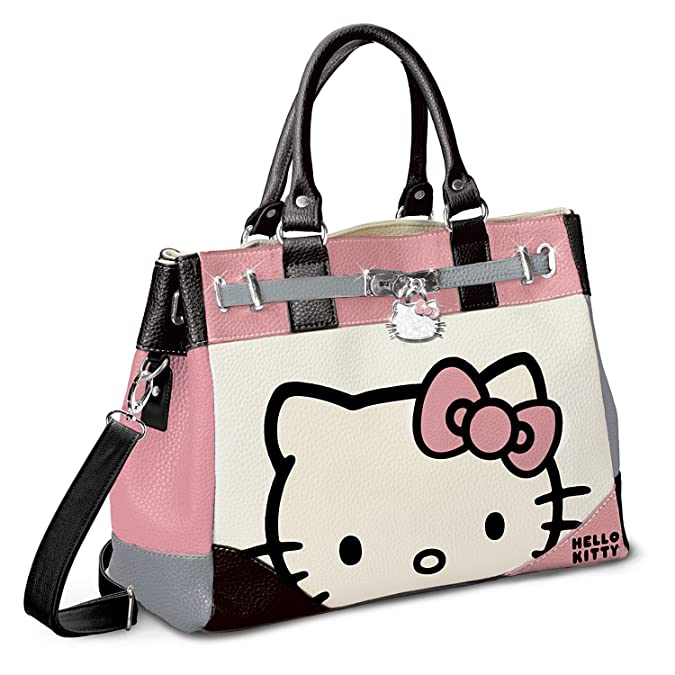 Hello Kitty Face Of Fashion Handbag With Charm by The Bradford Exchange   Handbags  Amazon.com 44644d1d077de