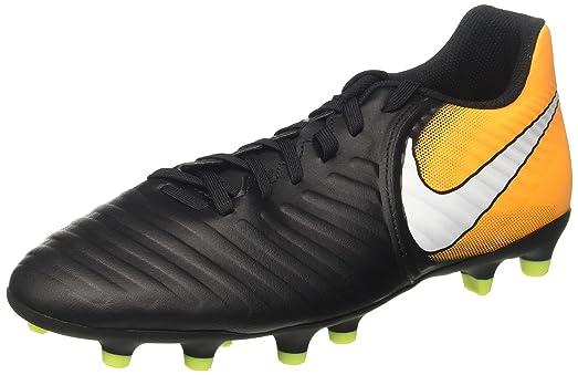 Hommes Tiempo Rio Iv Fg Chaussures De Footbal, L'orange Volt-laser Noir / Blanc Nike