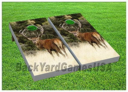 Dogs Woods Hunting Outdoor CORNHOLE BEANBAG TOSS GAME w Bags Game Boards Set 988