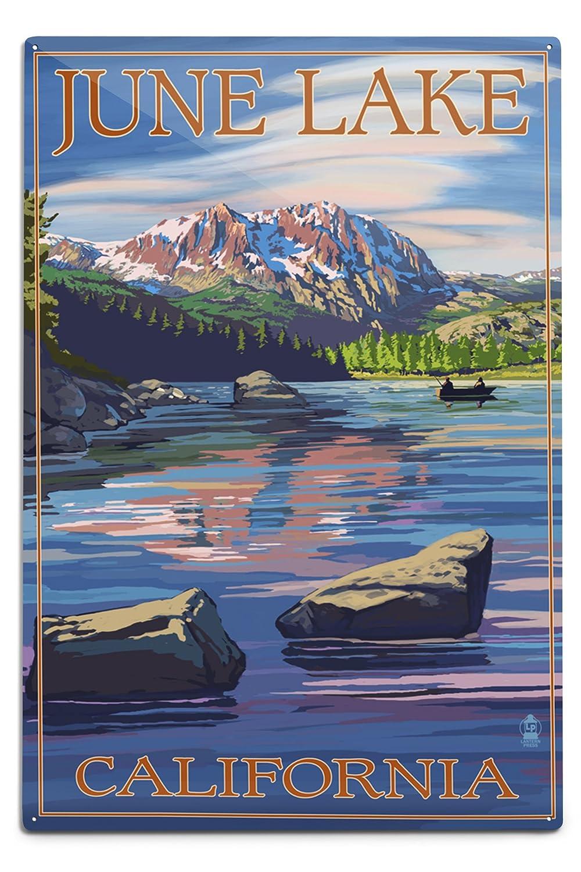 【正規品直輸入】 6月湖、カリフォルニアシーンwith Metal Sierra Wave 18 12 x 18 Wave Metal Sign LANT-31744-12x18M B06Y1J8QPP 12 x 18 Metal Sign, BEAU CHOIX:7c794221 --- 4x4.lt