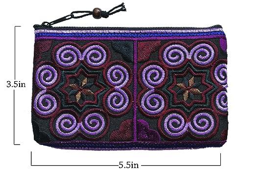 Amazon.com: Sabai Jai - Monedero hecho a mano, pequeño bolso ...