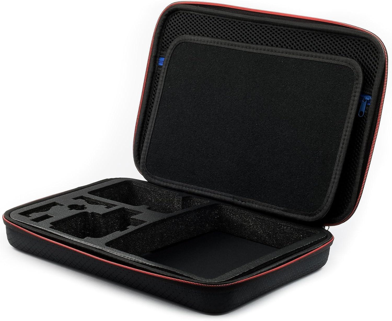 ideal f/ür die Reise oder Aufbewahrung- Komplettschutz gro/ße 34x24x7cm Schwarz Digicharge/® Kamera Zubeh/örtasche f/ür Xiaomi YI 4K WiFi Yi 2 II Kamera