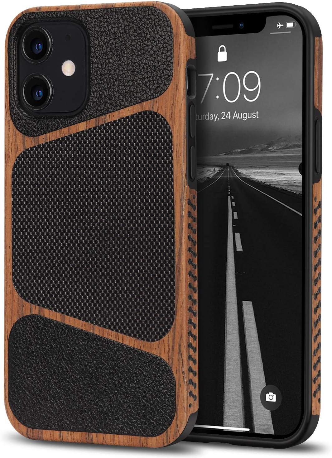 Tasikar Kompatibel Mit Iphone 12 Mini Hülle Holz Und Elektronik