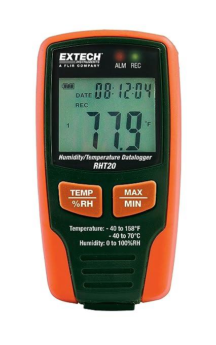 extech rht20 humidity and temperature datalogger - Temperature Data Logger