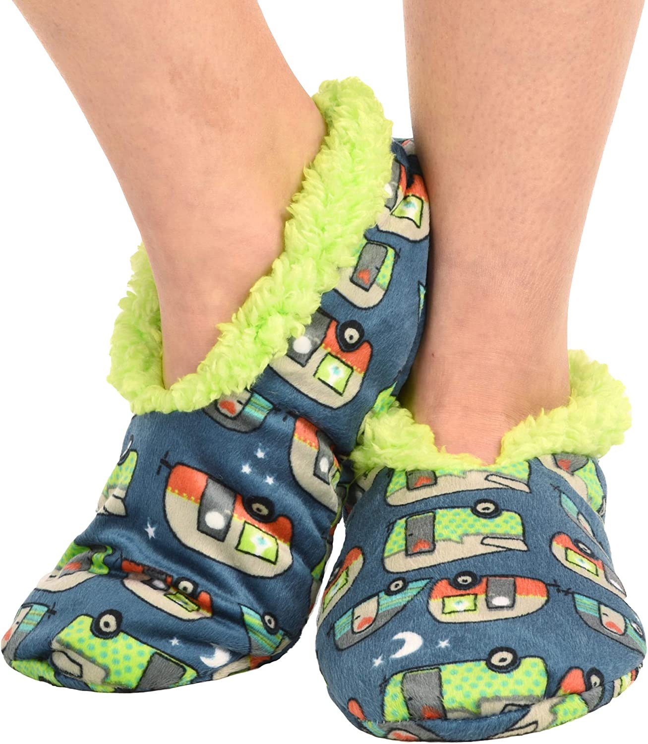 Lazy One Fuzzy Feet Slippers for Women Cute Fleece-Lined House Slippers