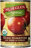 Muir Glen Organic Diced Tomatoes, Basil & Garlic, 14.5 oz