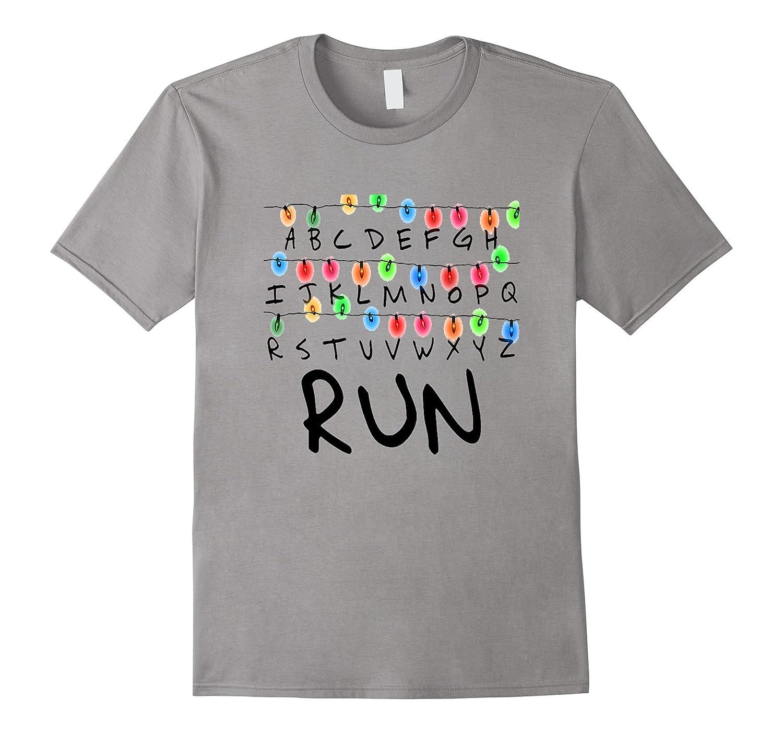 Creepy Run Chain Of Lights Graphic Halloween 2017 T Shirt-FL