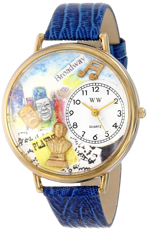 Whimsical Watches G-0420008 - Reloj analógico de cuarzo unisex, correa de cuero