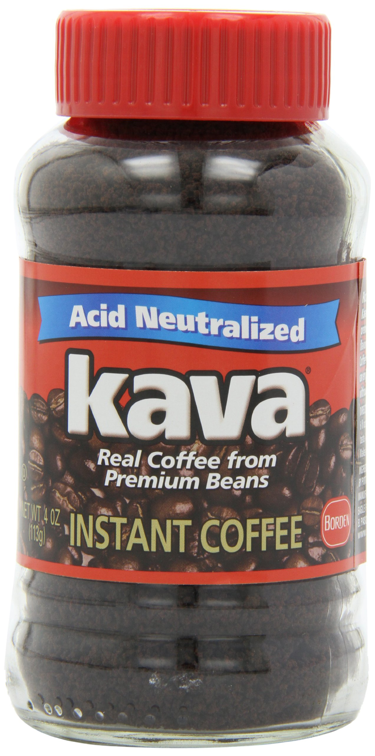 Kava Acid-Neutralized Instant Coffee, 4 Ounce (Pack of 12) by Kava
