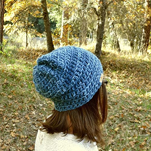 Amazon.com  Simple Slouchy Beanie Hat Winter Hat Crochet More Color  Options  Handmade 844b3f048b8
