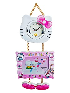 Fully Wall Clock for Kids Room, Pink, 50 Grams, Pack of 1