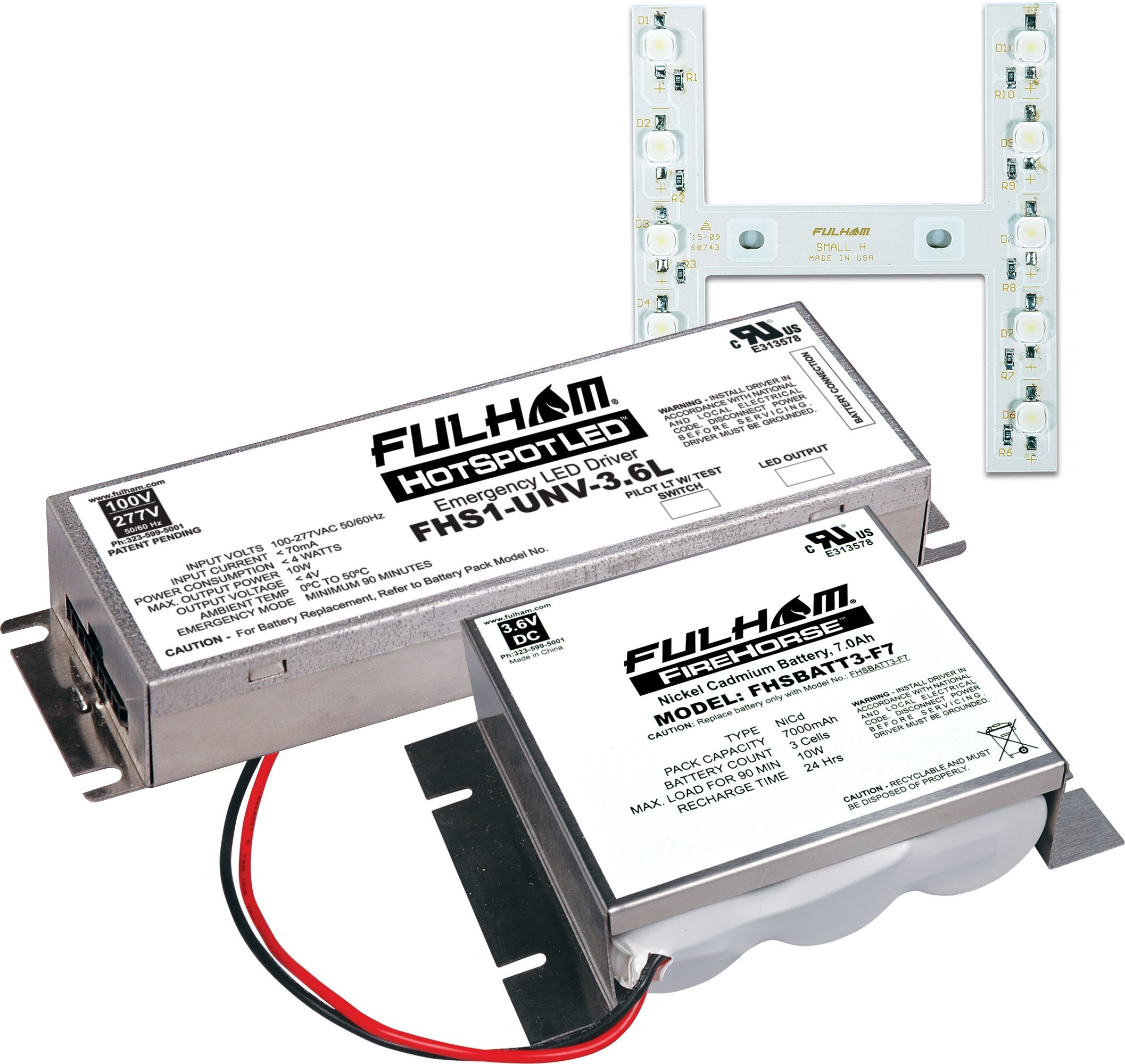 Fulham FHSKITT10SHF LED Emergency Battery Back Up Kit