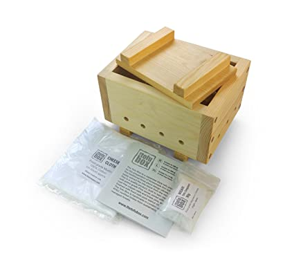 Cheese Cloth Soy DIY Pressing Mould Kitchen Tool L MENGCORE Machine Tofu Maker Mold Kit White