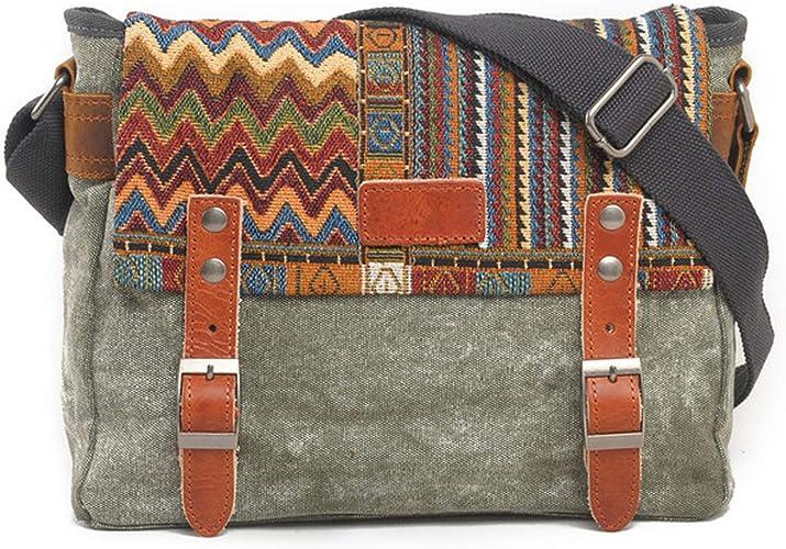 Ethnic Womens Phone Bag Retro Embroidery Purse Messenger Crossbody Bag Shoulder