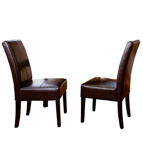 Amazon.Com - Best Selling Chocolate Brown T-Stitch Leather Dining