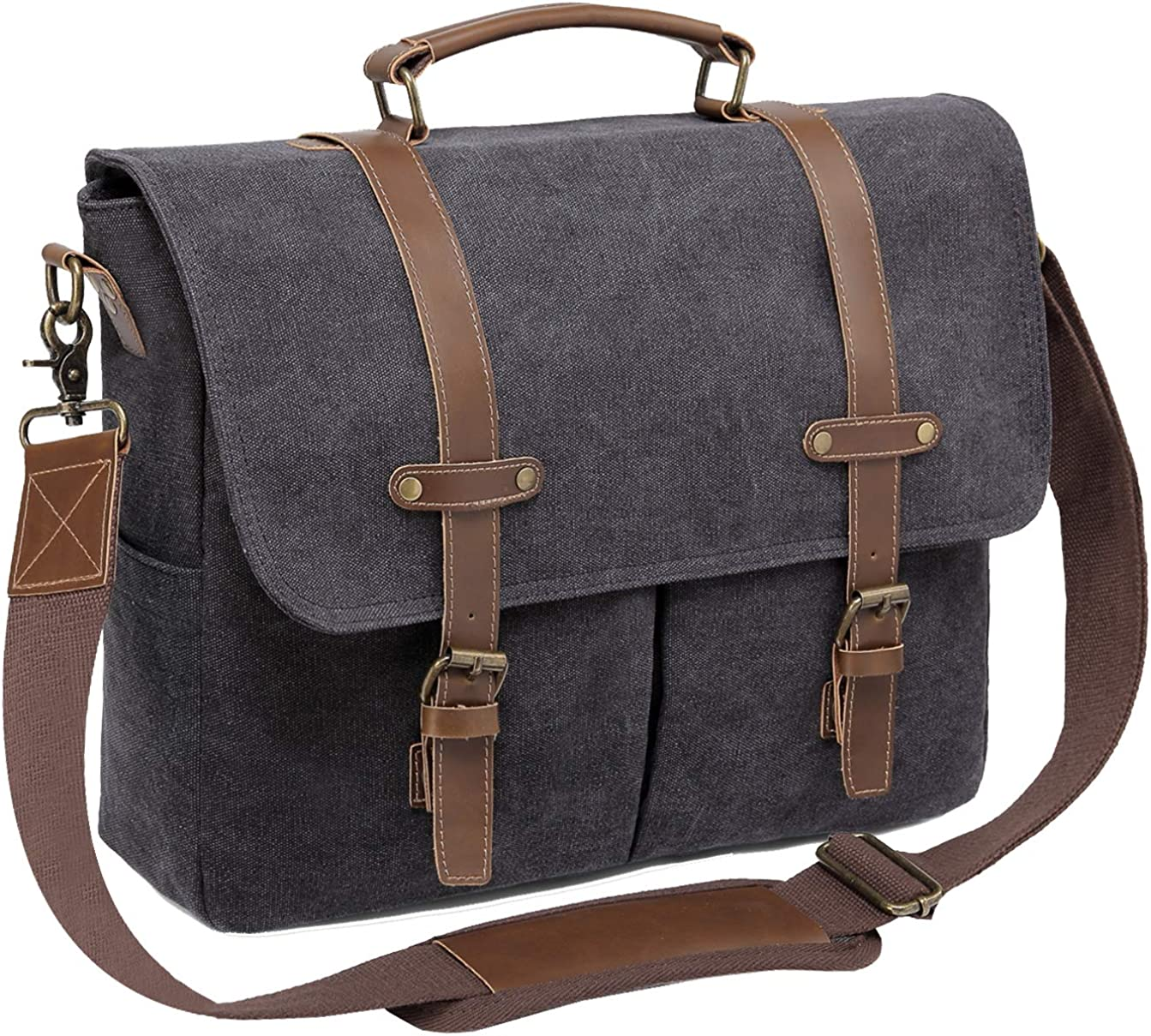 Messenger Bag for Men,ChaseChic Canvas 14in Laptop Satchel Business Briefcase