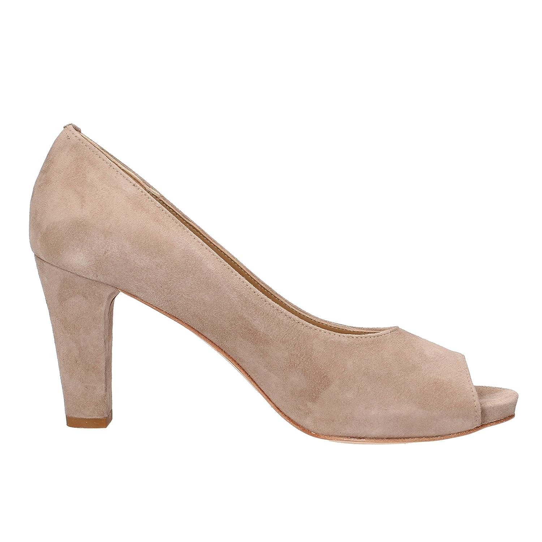 BARRACUDA'S Pumps / Shoes Woman Beige Suede AF728 (7, 5 US / Pumps 37, 5 EU) B01NAL5VKV Parent 65e769