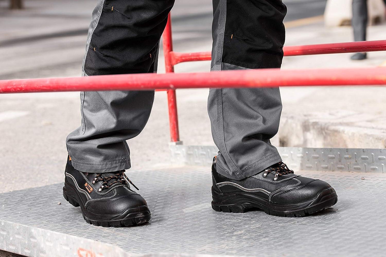 Black Hammer Scarponcini Antinfortunistici S1P SRC da Uomo con Puntale in Acciaio Scarpe da Lavoro e Trekking con Protezione Caviglia e Intersuola con