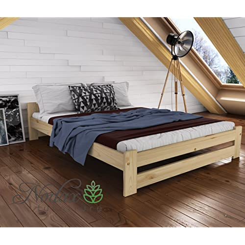 projettrois cadre de lit en partir de bois de pin massif - Cadre De Lit Bois Massif