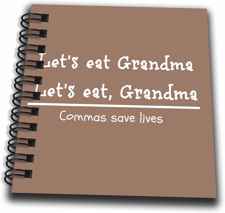Lets Eat 4 by 4 3dRose db/_218826/_3 Lets Eat Grandma Grandma Commas Save Lives Mini Notepad