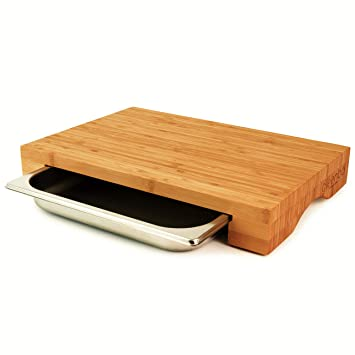 Amazon De Cleenbo Schneidbrett Cube Bamboo Profi Kuchenbrett Aus