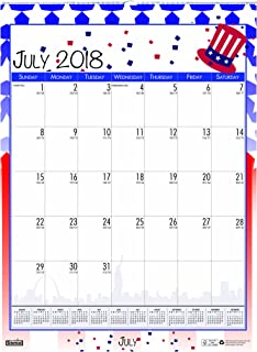 product image for House of Doolittle 2018-2019 Monthly Seasonal Wall Calendar, Academic, 12 x 16.5 Inches, July - June (HOD3395-19)