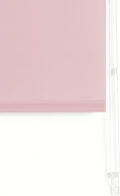 100 x 175 cm Estor enrollable transl/úcido liso ancho x alto Rosa Blindecor Ara