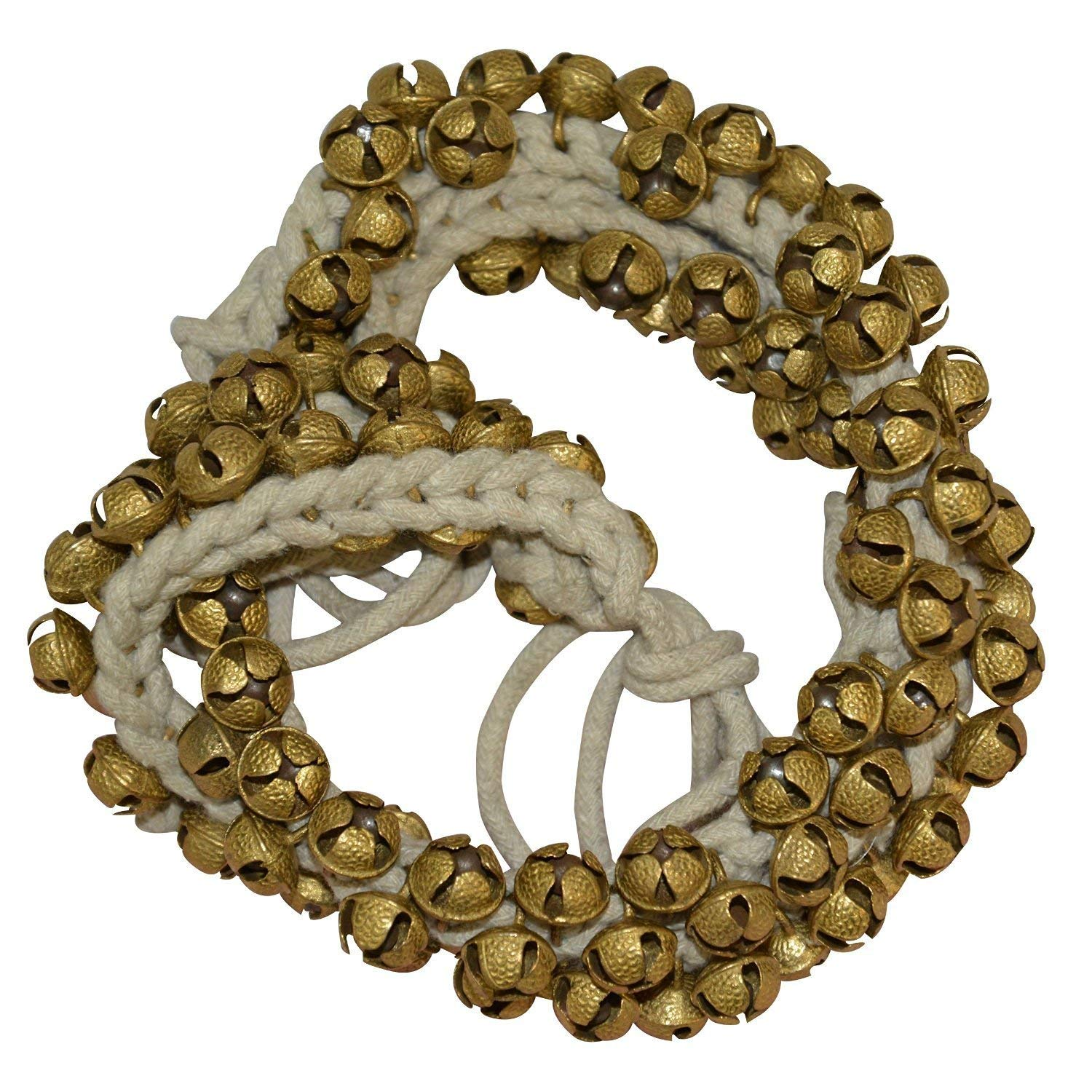 Brass Ghungroo with Big Bells (2 cm) -Set of 75 Pieces Ghungroo Kathak anklet women dance accessories