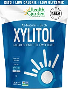 Health Garden Birch Xylitol Sweetener - Non GMO - Kosher - Made in the U.S.A. - Keto Friendly (3 lbs)