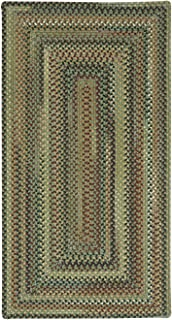 "product image for Capel Rugs Bangor Sage Green 24"" x 36"" Concentric Rectangle Braided Rug"