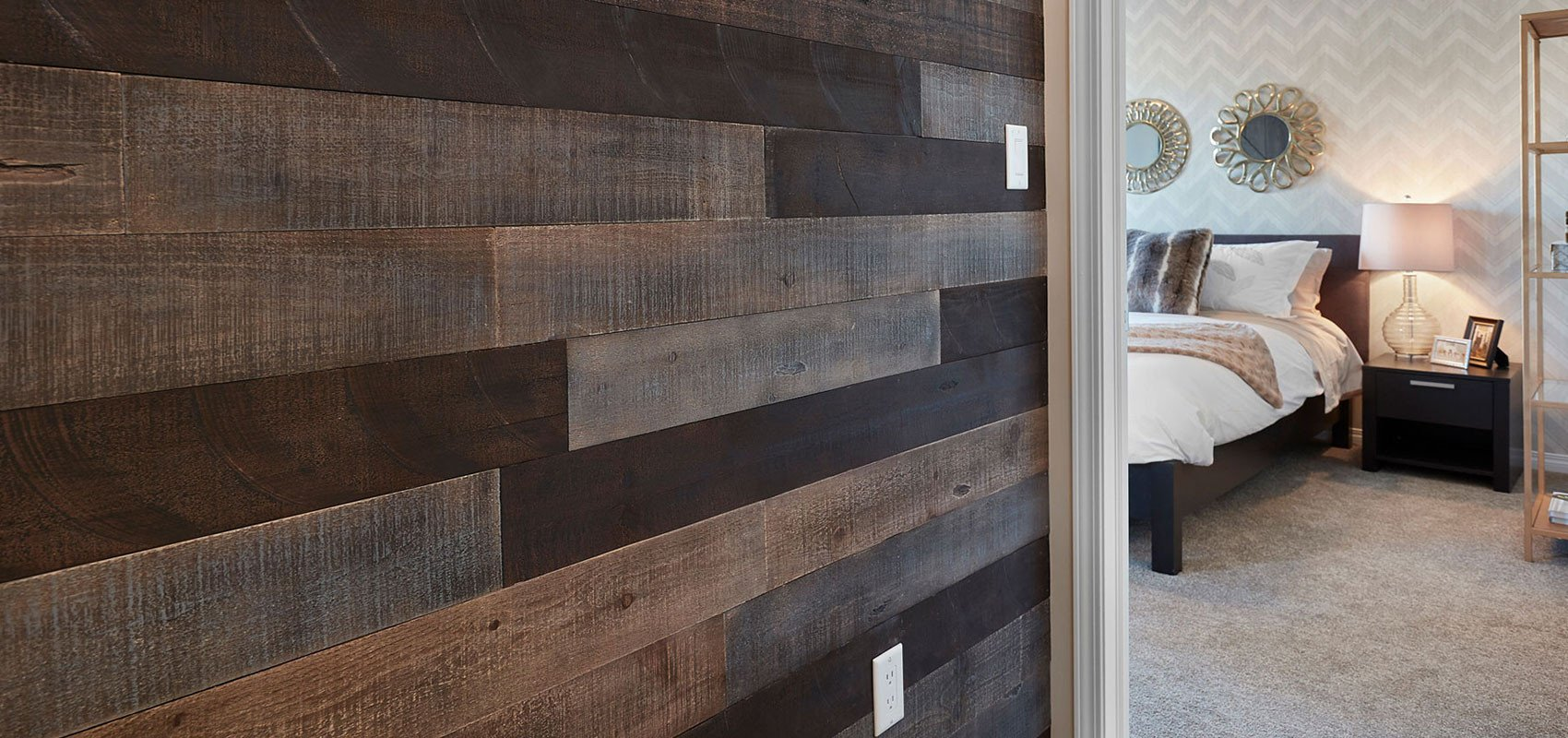 AS-IS BRAND Wood Walls (RAW-ISH) - Glue & Stick Aged Wood Planks (20 Sq. Ft)