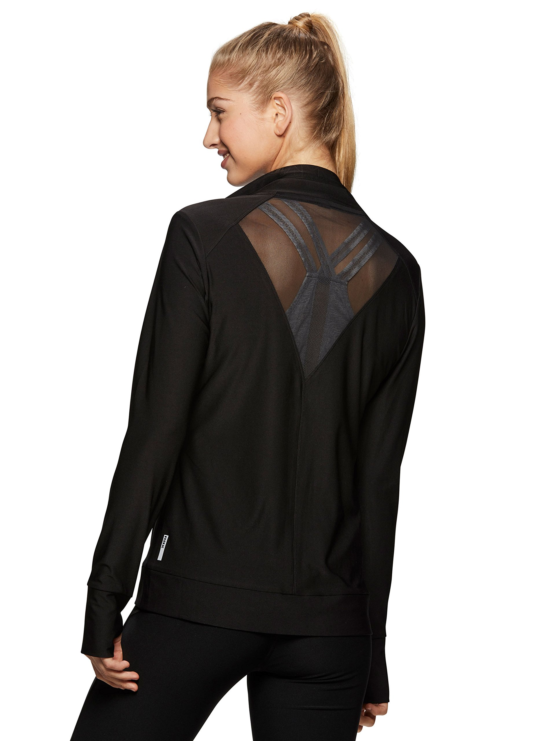 RBX Active Women's Running Jacket with Mesh Inserts Black S