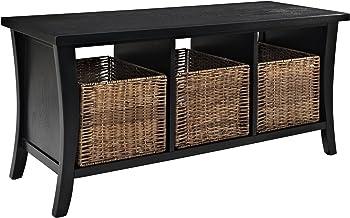 Crosley Furniture Wallis Entryway Storage Bench in Black