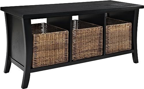 Crosley Furniture Wallis Entryway Storage Bench – Black