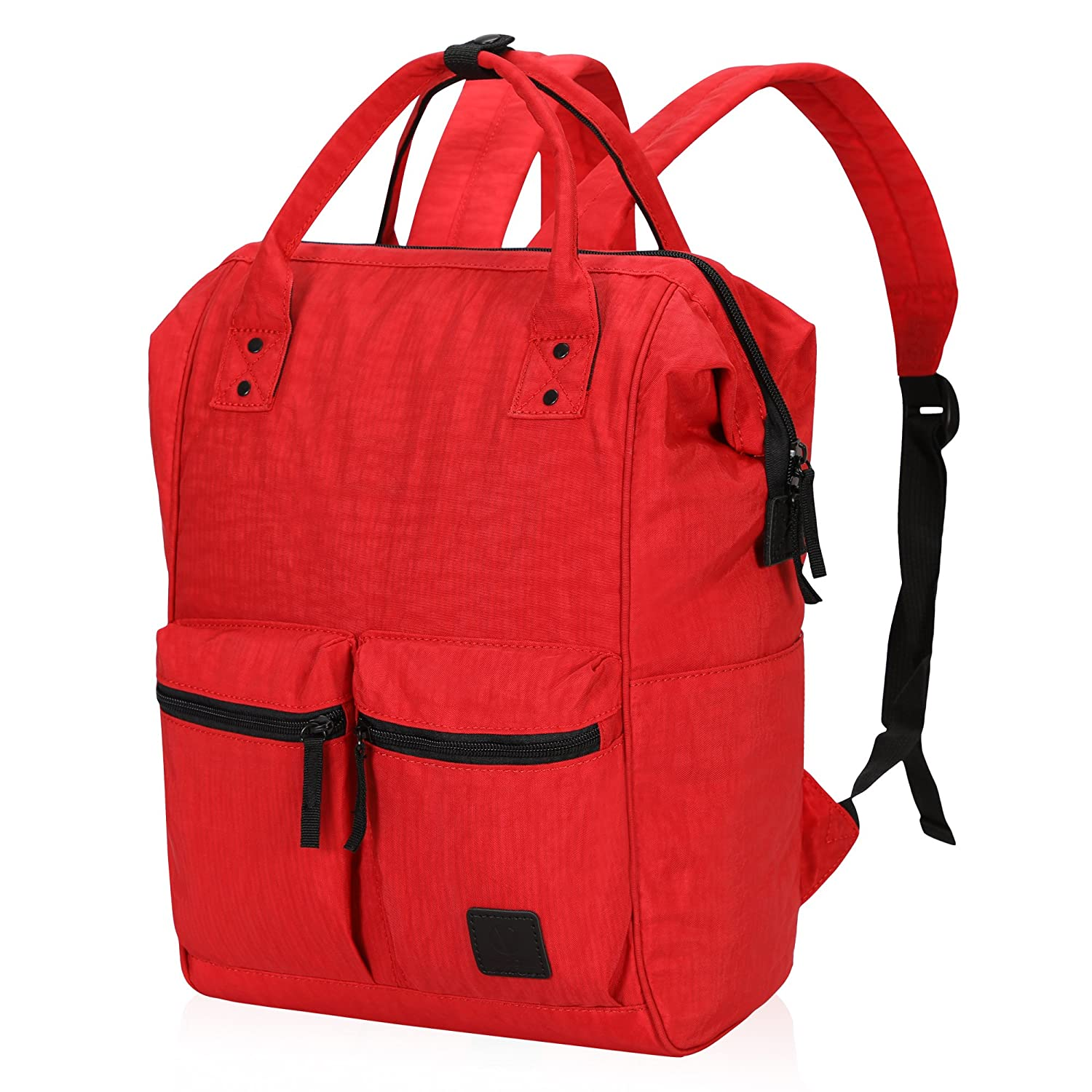 18c7a1dd98d6 Veegul Wide Open Multipurpose Travel Backpack Lightweight Casual Daypack  With Laptop Compartment Bright Red