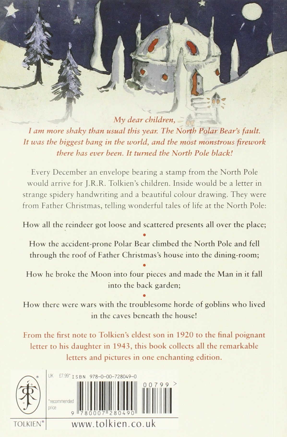Letters from father christmas amazon j r r tolkien letters from father christmas amazon j r r tolkien 9780007280490 books spiritdancerdesigns