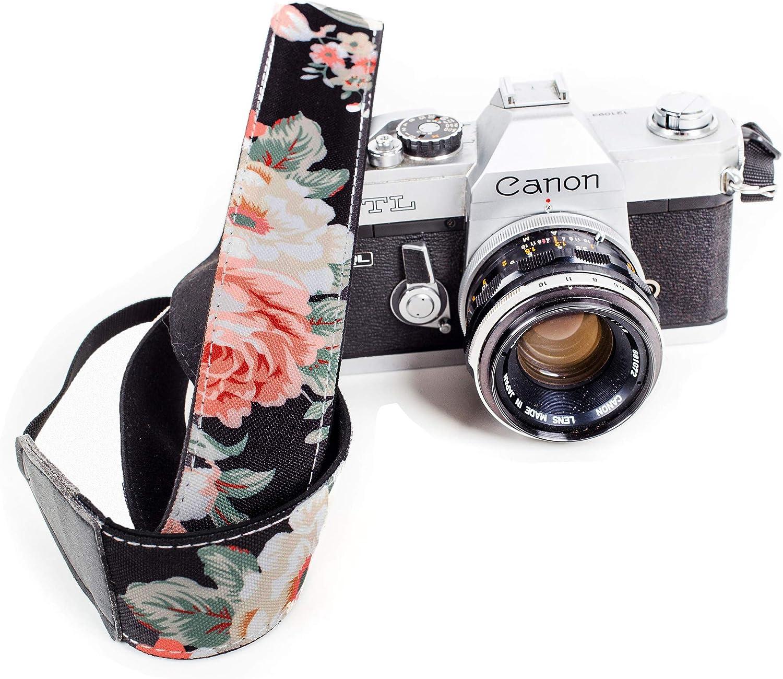 Floral camera strap dslr camera strap camera strap Scarf camera strap camera accessories photographer gift pink gift for her