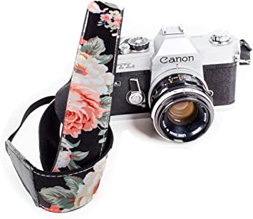 Floral Camera Strap For Women Flowers Camera Strap Photo Accessories Shoulder Camera Strap Roses Camera Strap