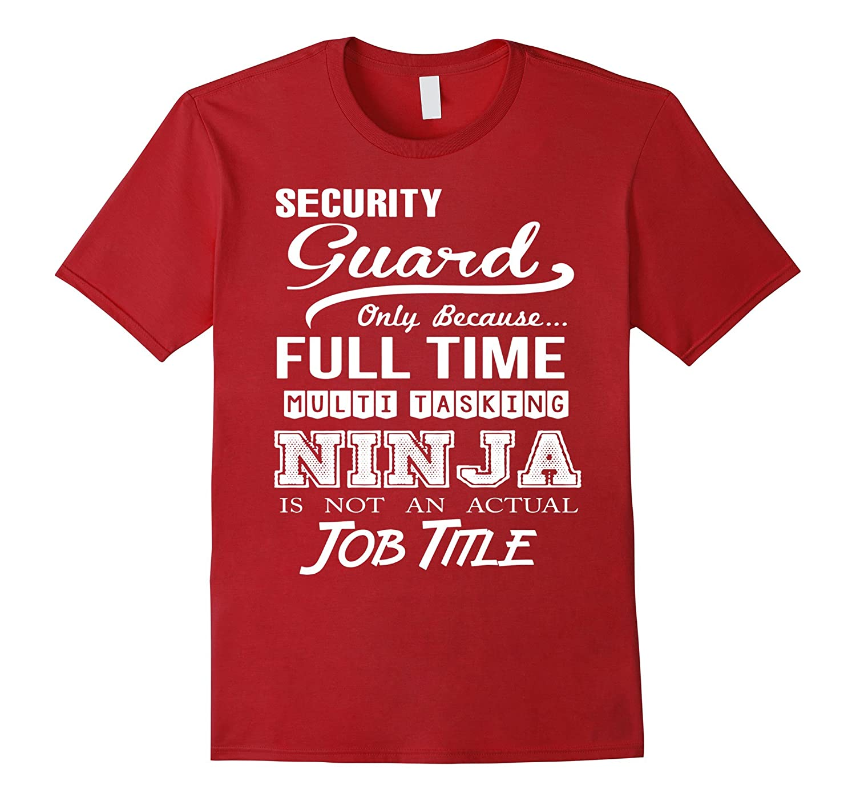 Security Guard Job Title Shirt-TD