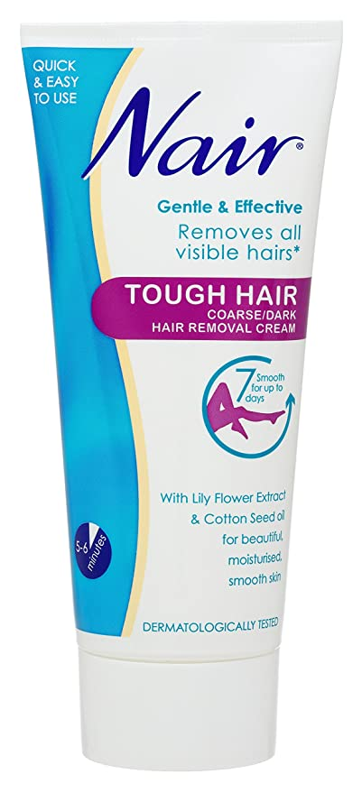 Nair 200ml Tough Hair Coarse Hair Removal Cream: Amazon.es: Salud y cuidado personal