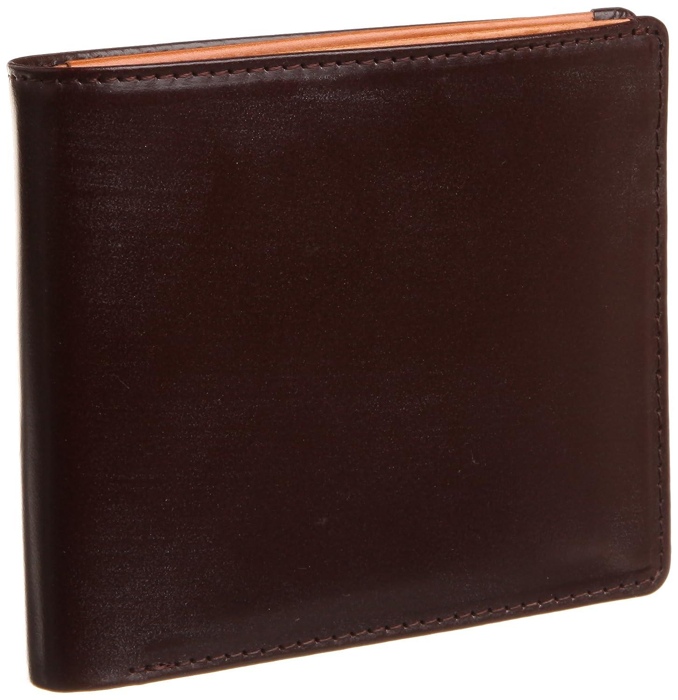 [ブリティッシュグリーン] BRITISH GREEN ダブルブライドルレザー二つ折り財布 B007ELQHC8 バーガンディ/ブラウン バーガンディ/ブラウン