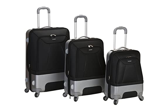 Amazon.com | Rockland Luggage Rome Polycarbonate 3 Piece Luggage ...