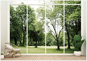 Allenjoy 7x5ft Business Office French Sash Window Backdrop Living Room Plant Views Photography Background Zoom Calls Video Conference Virtual Meetings at Home Job Interviews Webcasts Live Events Props